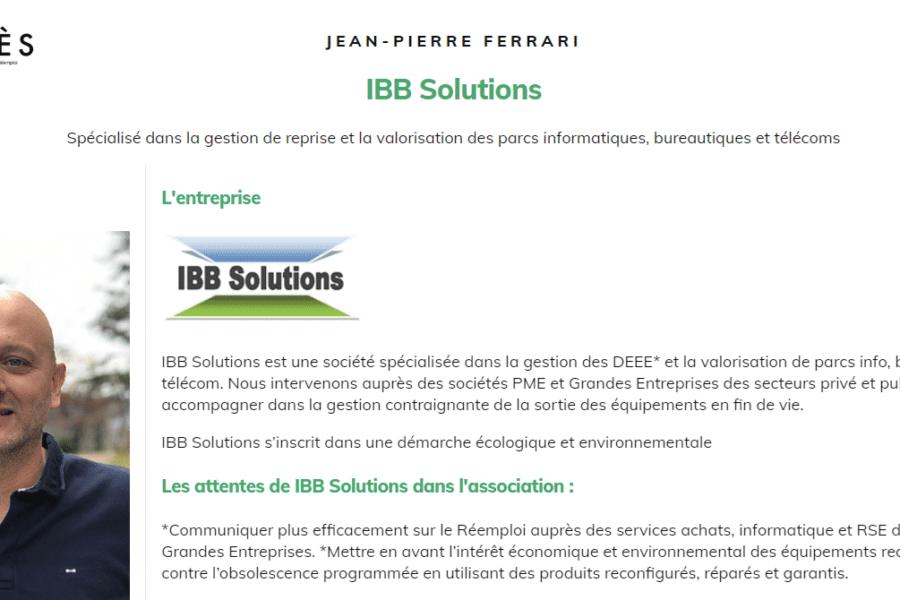 IBB membre de l'association APRES – Salon PRODURABLE